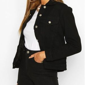 Boohoo Black Western Denim Jacket